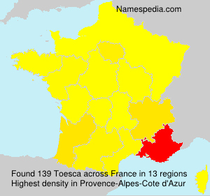 Surname Toesca in France