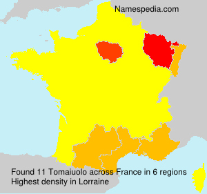 Surname Tomaiuolo in France
