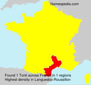 Surname Tonli in France