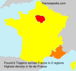 Surname Toppino in France