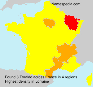 Surname Toraldo in France