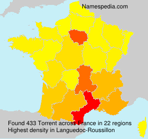 Surname Torrent in France