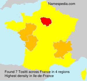 Surname Tositti in France