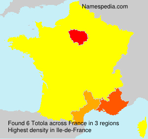 Surname Totola in France