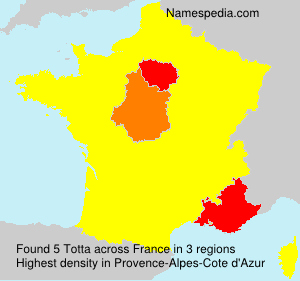 Surname Totta in France