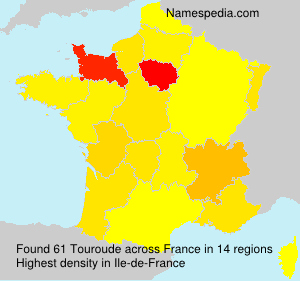 Surname Touroude in France