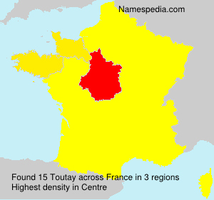 Surname Toutay in France