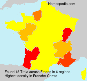 Surname Traia in France
