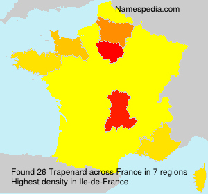Surname Trapenard in France