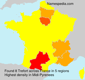 Surname Trefort in France