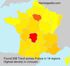 Surname Treuil in France