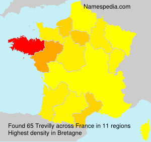 Surname Trevilly in France