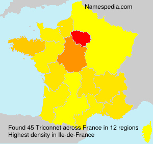 Surname Triconnet in France