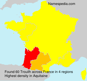 Surname Trouilh in France