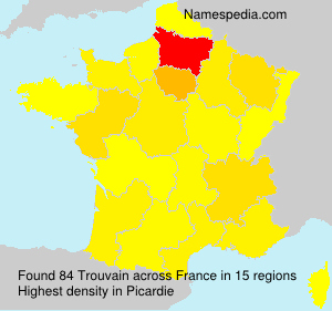 Surname Trouvain in France