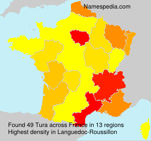 Surname Tura in France