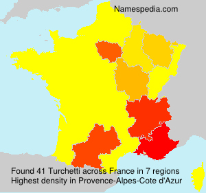 Surname Turchetti in France