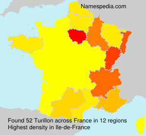 Surname Turillon in France