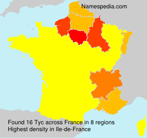 Surname Tyc in France