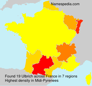 Surname Ulbrich in France