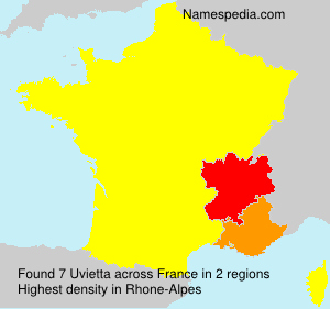 Surname Uvietta in France