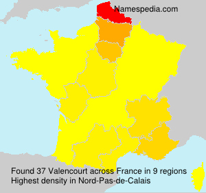 Surname Valencourt in France