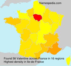 Surname Valentine in France