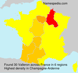 Surname Valleron in France