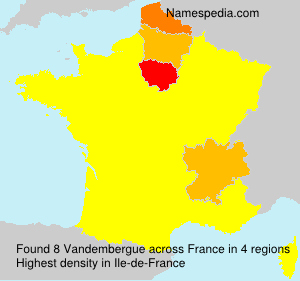 Surname Vandembergue in France