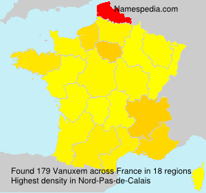 Surname Vanuxem in France