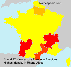 Surname Vanz in France