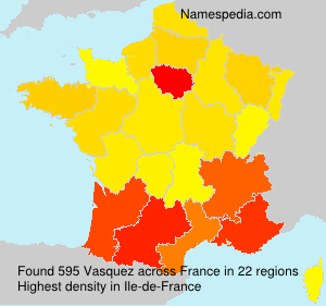 Surname Vasquez in France