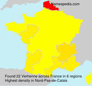 Surname Verhenne in France