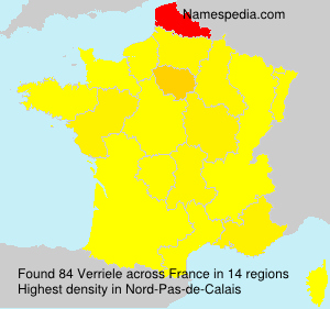 Surname Verriele in France
