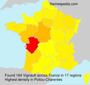 Surname Vignault in France