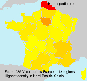 Surname Vilcot in France