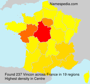 Surname Vincon in France