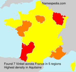 Surname Vinkel in France