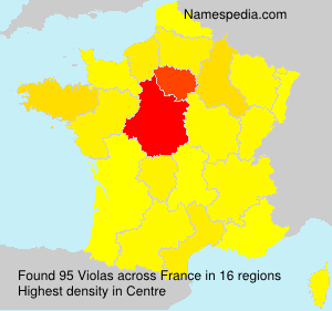 Surname Violas in France
