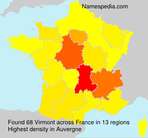 Surname Virmont in France