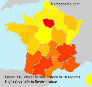 Surname Visser in France