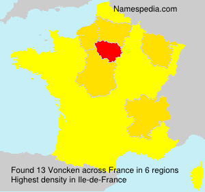 Surname Voncken in France