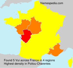 Surname Vui in France