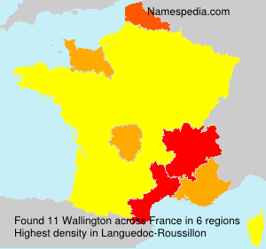 Surname Wallington in France
