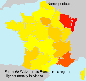 Surname Walz in France