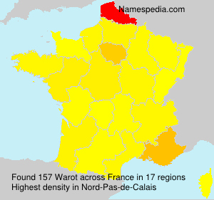 Surname Warot in France