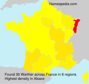 Surname Warther in France