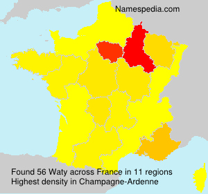 Surname Waty in France