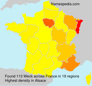 Surname Weck in France