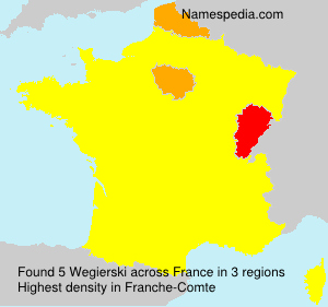 Surname Wegierski in France